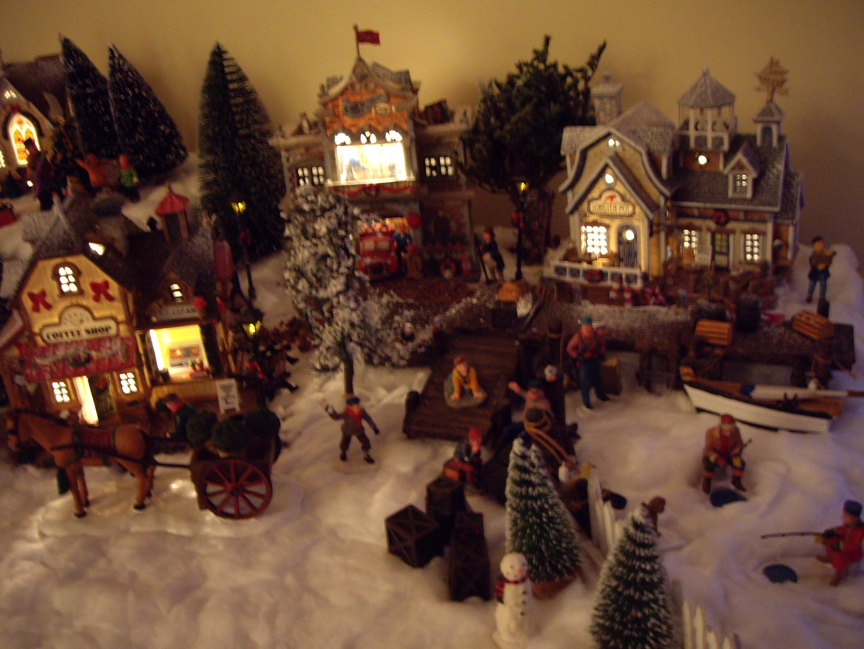 #C4A007 Village Noel 6119 decoration de noel village animé 2816x2112 px @ aertt.com
